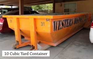 10 Cubic Yard Roll Off Dumpster