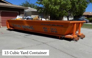 15 Cubic Yard Roll Off Dumpster